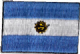 Argentina Embroidered Flag Patch, style small (discontinued).